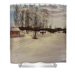 Snow In Solbrinken Shower Curtain by Martin Howard