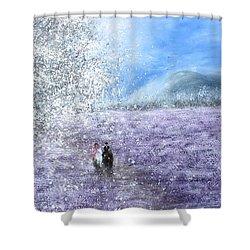 Snow Tree Shower Curtain by Kume Bryant