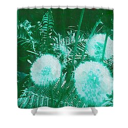 Snowballs In The Garden Shower Curtain by Pepita Selles