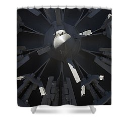 Snowblower Shower Curtain by Steven Ralser