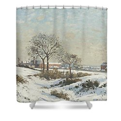 Snowy Landscape At South Norwood Shower Curtain by Camile Pissarro