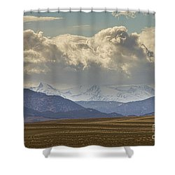 Snowy Rocky Mountains County View Shower Curtain by James BO  Insogna