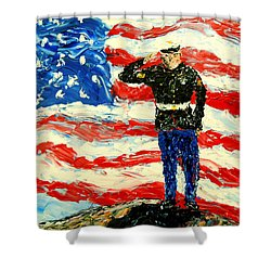 So Proudly They Hailed  Shower Curtain by Mark Moore
