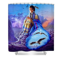 Soaring Spirit Shower Curtain by Andrew Farley