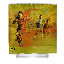 Soccer  Shower Curtain by Corporate Art Task Force