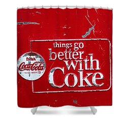 Soda Of Choice Shower Curtain by Toni Hopper