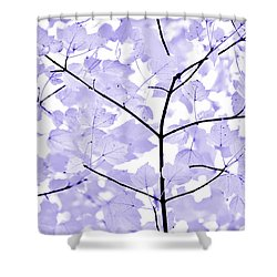 Soft Lavender Leaves Melody Shower Curtain by Jennie Marie Schell