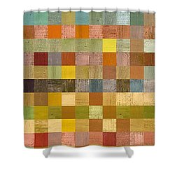 Soft Palette Rustic Wood Series Collage Lll Shower Curtain by Michelle Calkins