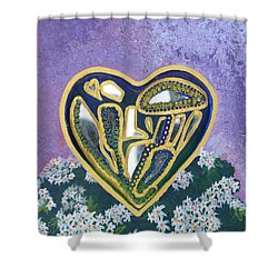 Softened Heart Best Reflections Energy Collection Shower Curtain by Catt Kyriacou