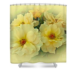 Softly And Sweetly Shower Curtain by Mother Nature