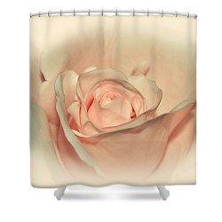 Softly Peach Shower Curtain by Kaye Menner