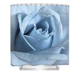 Softness Of A Blue Rose Flower Shower Curtain by Jennie Marie Schell