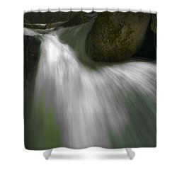 Softwater Of Cascade Creek Shower Curtain by Bill Gallagher