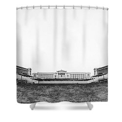 Soldiers' Field And Museum Shower Curtain by Underwood Archives