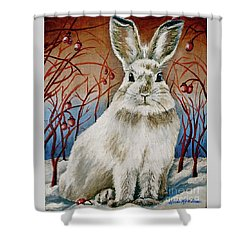 Some Bunny Is Charming Shower Curtain by Linda Simon