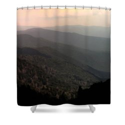 Song Of Serenity Shower Curtain by Karen Wiles