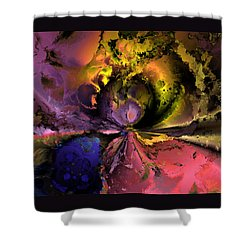 Song Of The Cosmos Shower Curtain by Claude McCoy