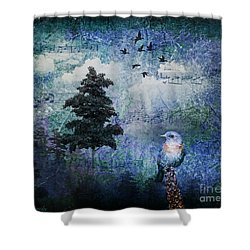 Songbird Shower Curtain by Lianne Schneider