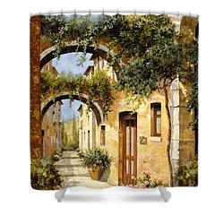 Sotto Gli Archi Shower Curtain by Guido Borelli