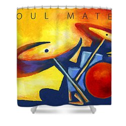 Soul Mates Poster Shower Curtain by Stephen Anderson