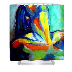 Soulful Shower Curtain by Helena Wierzbicki