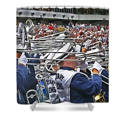 Sounds Of College Football Shower Curtain by Tom Gari Gallery-Three-Photography