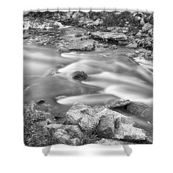 South Boulder Creek Little Waterfalls Rollinsville Bw Shower Curtain by James BO  Insogna