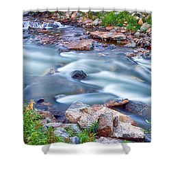 South Boulder Creek Little Waterfalls Rollinsville Shower Curtain by James BO  Insogna