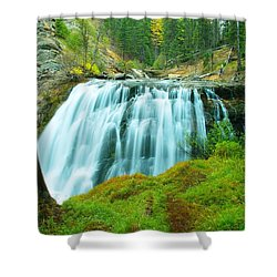 South Fork Falls  Shower Curtain by Jeff Swan
