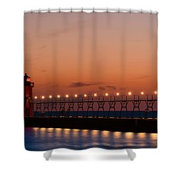 South Haven Reflection Shower Curtain by Sebastian Musial