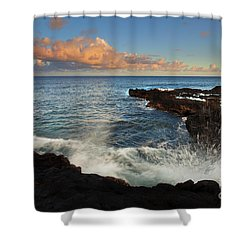 South Shore Spray Shower Curtain by Mike  Dawson