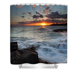 South Shore Waves Shower Curtain by Mike  Dawson