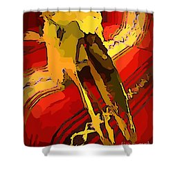 South Western Style Art With A Canadian Moose Skull  Shower Curtain by John Malone
