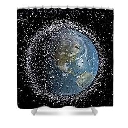 Shower Curtain featuring the photograph Space Junk by Science Source