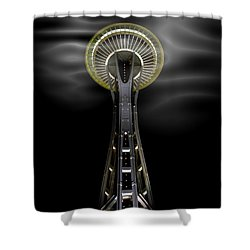 Space Needle And Clouds Shower Curtain by Chalet Roome-Rigdon