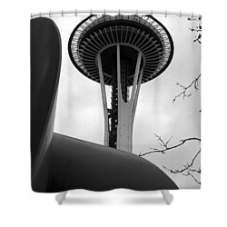 Space Needle Shower Curtain by Kirt Tisdale