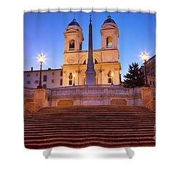 Spanish Steps Dawn Shower Curtain by Brian Jannsen