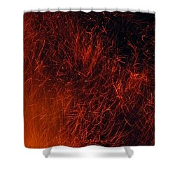 Sparks Shower Curtain by Chris Berry