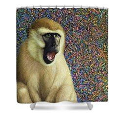 Speechless Shower Curtain by James W Johnson