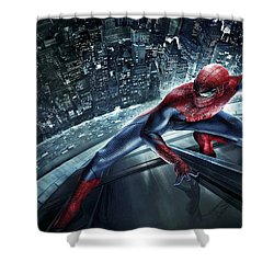 Spider Man 210 Shower Curtain by Movie Poster Prints