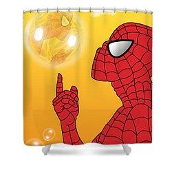 Spiderman 3 Shower Curtain by Mark Ashkenazi