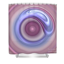 Spilled Silk Shower Curtain by Victoria Harrington