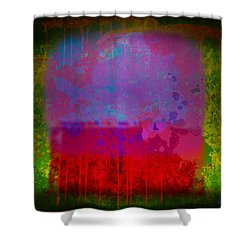 Spills And Drips Shower Curtain by Gary Grayson