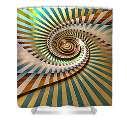 Spin Shower Curtain by Manny Lorenzo