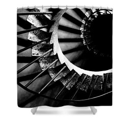 Spiral Staircase Shower Curtain by Fabrizio Troiani