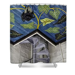 Spiral Stairs And Mural Shower Curtain by Lynn Palmer