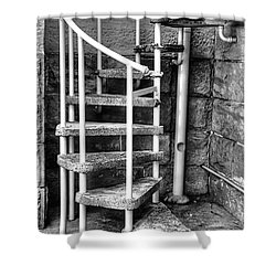 Spiral Steps - Old Sandstone Church Shower Curtain by Kaye Menner