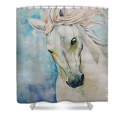 Spirit Shower Curtain by Tamer and Cindy Elsharouni