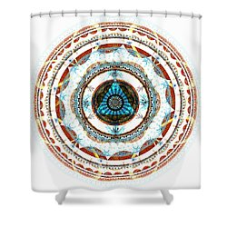 Spirit Circle Shower Curtain by Anastasiya Malakhova