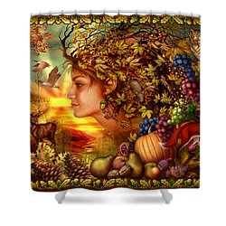 Spirit Of Autumn Shower Curtain by Ciro Marchetti